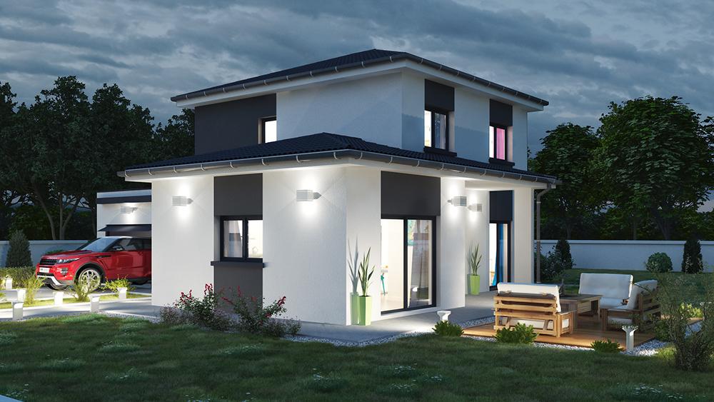 Prestations 3d pour constructeurs de maisons individuelles for Exterieur maison 3d
