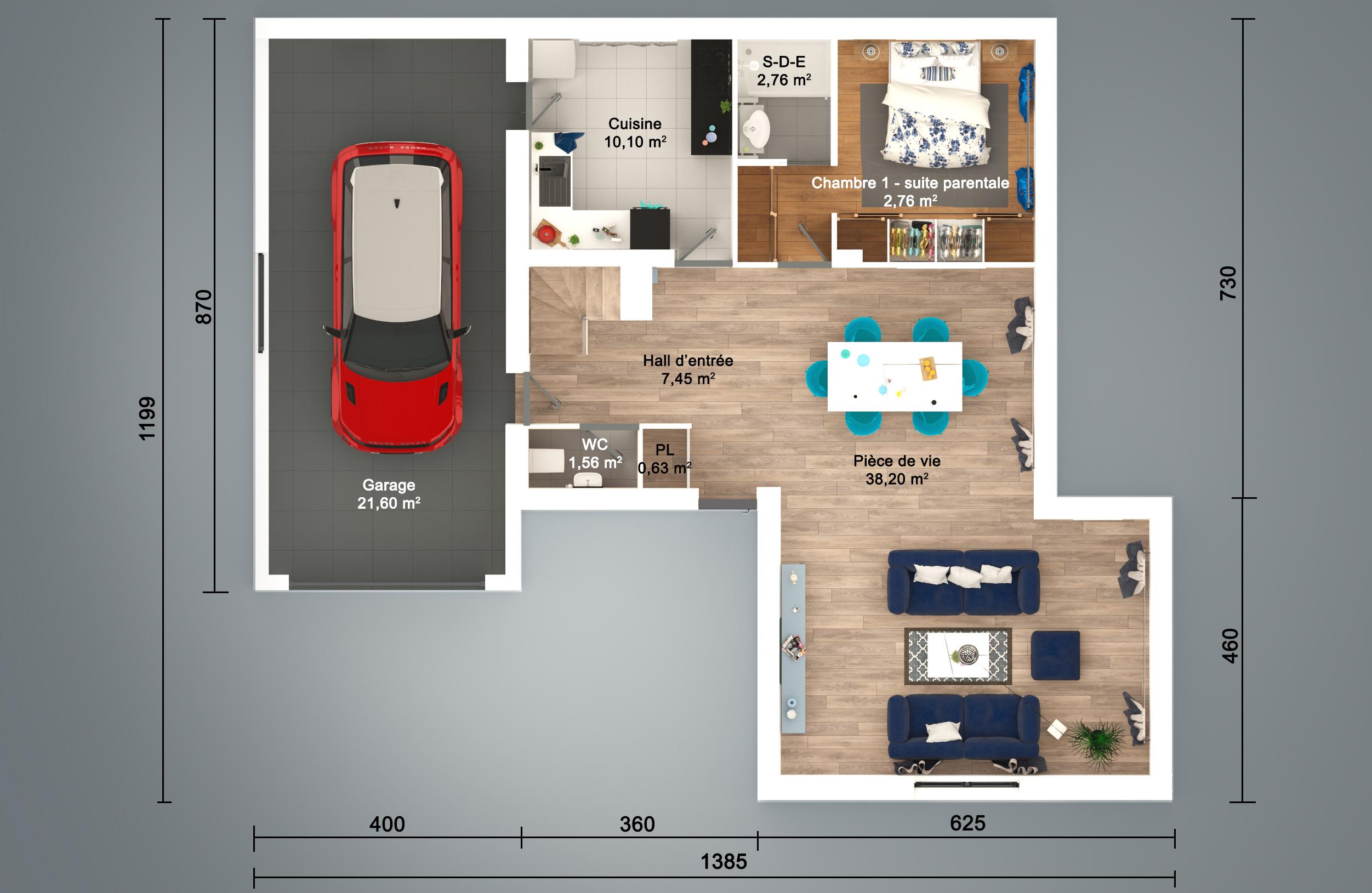Plan 3d En Ligne Maison Moderne