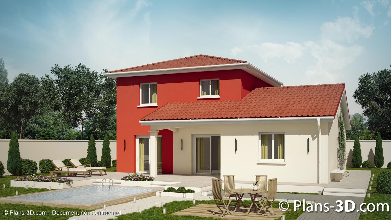 Perspectives 3d de maisons pour constructeurs de maisons individuelles perspective maison 3d for Construction maison simple