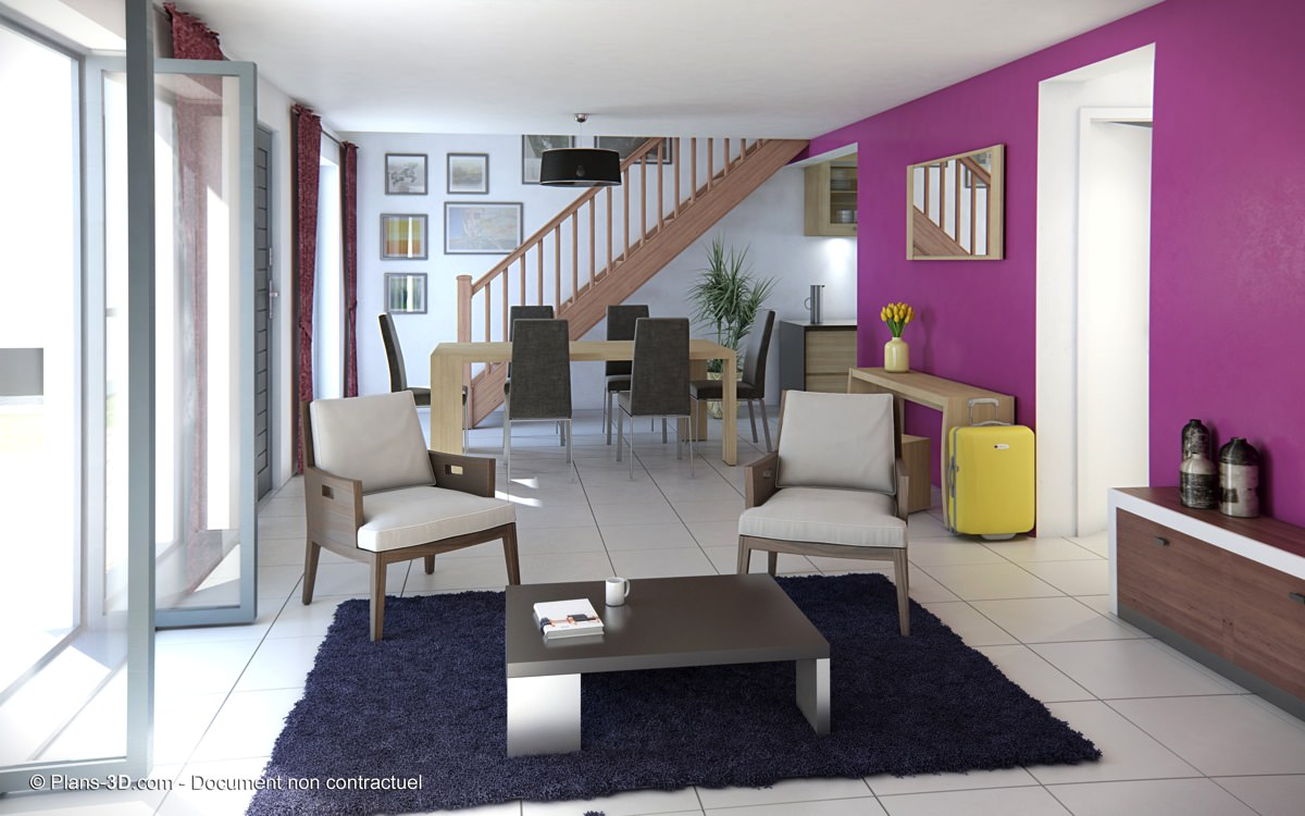 Interieur maison perspective for Interieur 3d