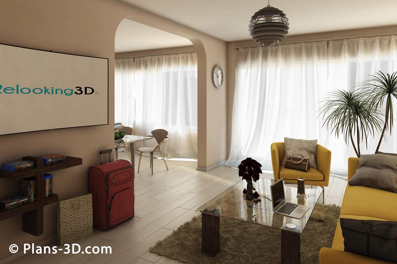 3D réalisée pour Agence immo
